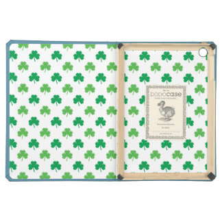 2-Shades of Green Shamrocks on White St. Patrick's iPad Air Cases