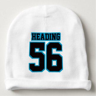 2 Side Beanie WHITE BLACK BLUE Football Jersey