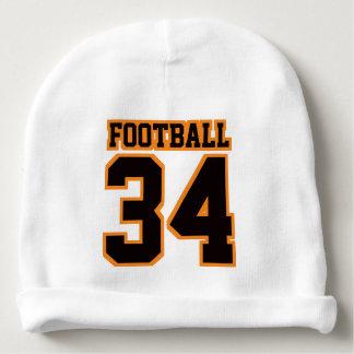 2 Side Beanie WHITE BLACK ORANGE Football Jersey