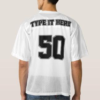 2 Side BLACK GREY WHITE Men Football Jersey