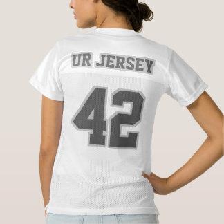 2 Side DARK GREY WHITE Womens Football Jersey