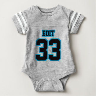 2 Side GRAY BLACK BLUE Crewneck Football Outfit Tee Shirt