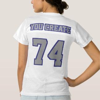 2 Side GREY NAVY BLUE WHITE Womens Sport Jersey