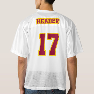 2 Side MAROON GOLDEN YELLOW WHITE Men Sport Jersey