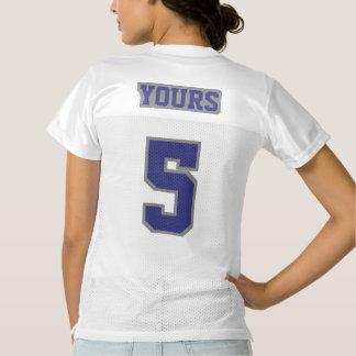 2 Side NAVY BLUE GREY WHITE Womens Sport Jersey