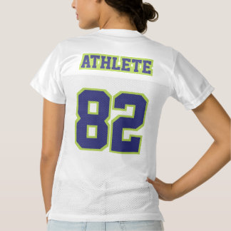 2 Side NAVY LIME GREEN WHITE Womens Sport Jersey