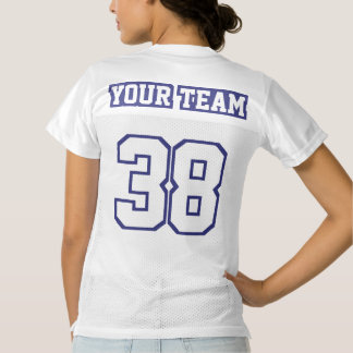 2 Side NAVY WHITE Womens Football Jersey