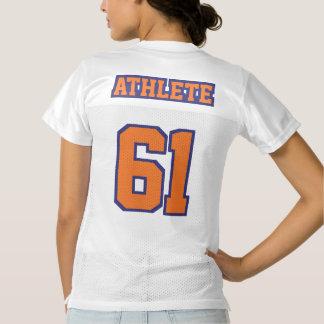 2 Side ORANGE NAVY BLUE WHITE Womens Sport Jersey