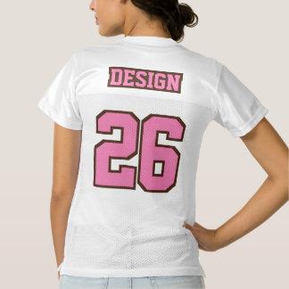 2 Side PINK BROWN WHITE Women Football Jersey