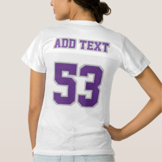 2 Side PURPLE SILVER WHITE Womens Football Jersey