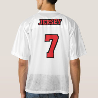 2 Side RED BLACK WHITE Mens Football Jersey