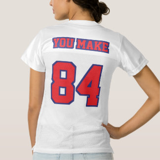 2 Side RED NAVY BLUE WHITE Womens Sport Jersey