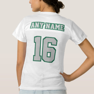 2 Side SILVER DARK GREEN WHITE Womens Sport Jersey