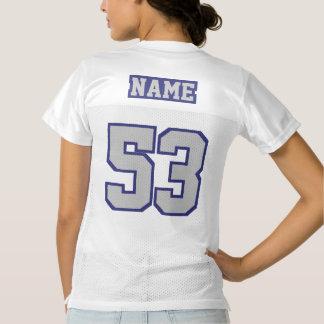 2 Side SILVER GRAY NAVY WHITE Womens Sport Jersey