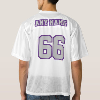 2 Side SILVER GRAY PURPLE WHITE Mens Sports Jersey