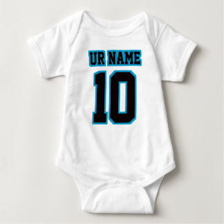 2 Side WHITE BLACK BLUE Bodysuit Football Jersey