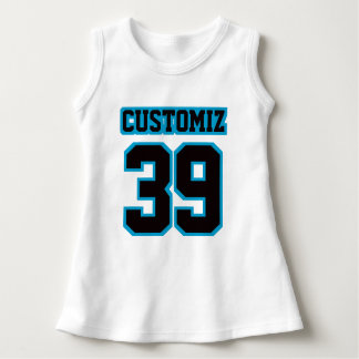 2 Side WHITE BLACK BLUE Dress Football Jersey
