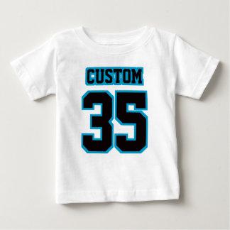 2 Side WHITE BLACK BLUE Football Crewneck T Shirts