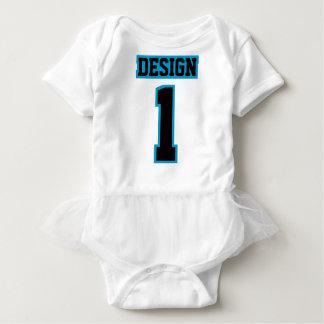 2 Side WHITE BLACK BLUE Tutu Football Babywear Baby Bodysuit