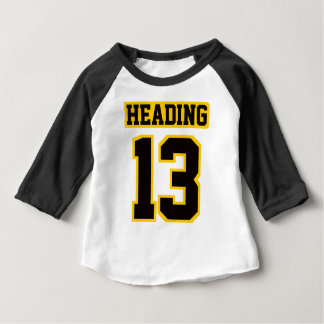 2 Side WHITE BLACK GOLD 3/4 Sleeve Raglan Baby T-Shirt