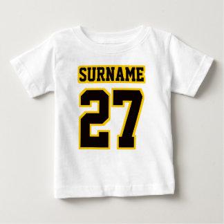 2 Side WHITE BLACK GOLD Football Crewneck Tshirts
