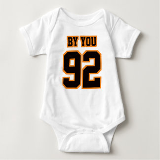 2 Side WHITE BLACK ORANGE Bodysuit Football Jersey