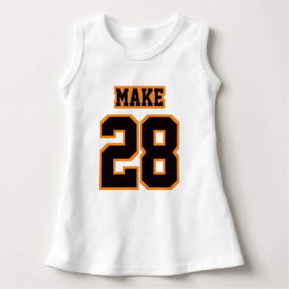 2 Side WHITE BLACK ORANGE Dress Football Jersey