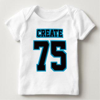 2 Side WHITE BLACK ORANGE Lap Shirt Football Baby