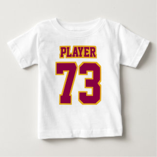 2 Side WHITE BURGUNDY GOLD Football Crewneck Tee Shirts