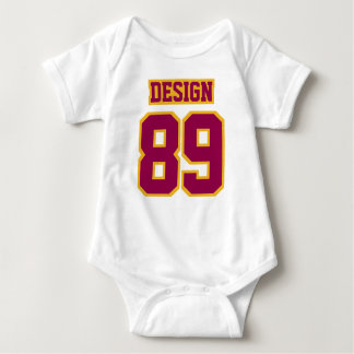 2 Side WHITE BURGUNDY GOLD Football Jersey Outfit T Shirt