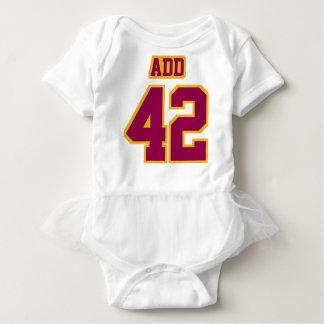 2 Side WHITE BURGUNDY GOLD Tutu Football Babywear Infant Onesie
