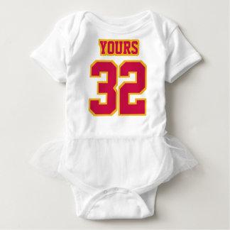 2 Side WHITE CRIMSON GOLD Tutu Football Babywear Baby-Einteiler