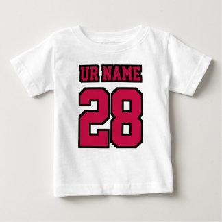 2 Side WHITE CRIMSON RED BLACK Football Crewneck T-shirt