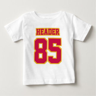 2 Side WHITE CRIMSON RED GOLD Football Crewneck T-shirt