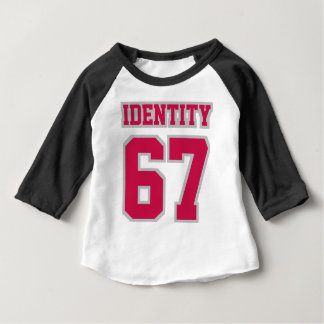 2 Side WHITE CRIMSON SILVER 3/4 Sleeve Raglan Baby T-Shirt