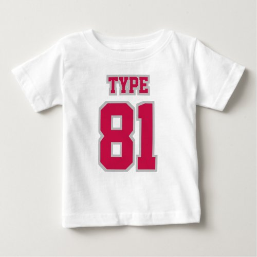 2 Side WHITE CRIMSON SILVER Football Crewneck Baby T_Shirt