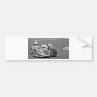 2 sidecars racing bumper sticker