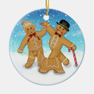 2 Sided -1st Christmas Gingerbread Family Ornament