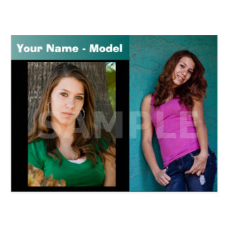 2-Sided Actor & Model Headshot Comp Postcard