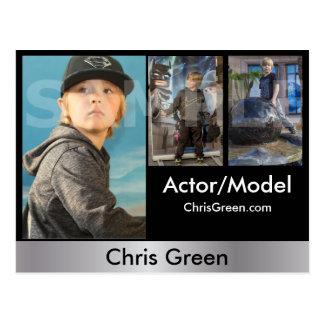 2-Sided Actor & Model Headshot Comp Postcard
