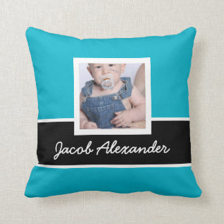 2 Sided Any Color Instagram Photo with Names Throw Pillow