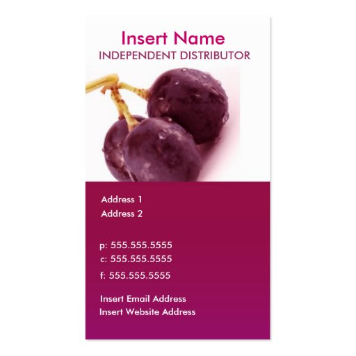 2-Sided Business Card (Grapes)