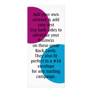 2 sided Business Rack cards Advertising