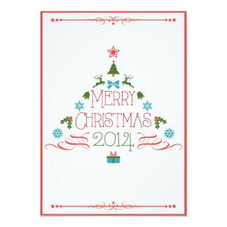 2 Sided Christmas Tree Invitation