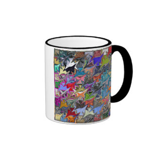 2 sided Coffee Mug with Colorful Pattern