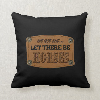 2-sided Country Western Horses designer pillows