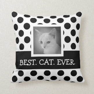 2 Sided Cute BW Polka Dots with Instagram Photos Throw Pillow