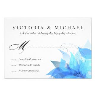 2-Sided de lujo RSVP floral Comunicado Personal