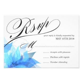 2-Sided de lujo RSVP floral Invitaciones Personalizada