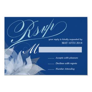 """2-Sided de lujo RSVP floral Invitación 3.5"""" X 5"""""""